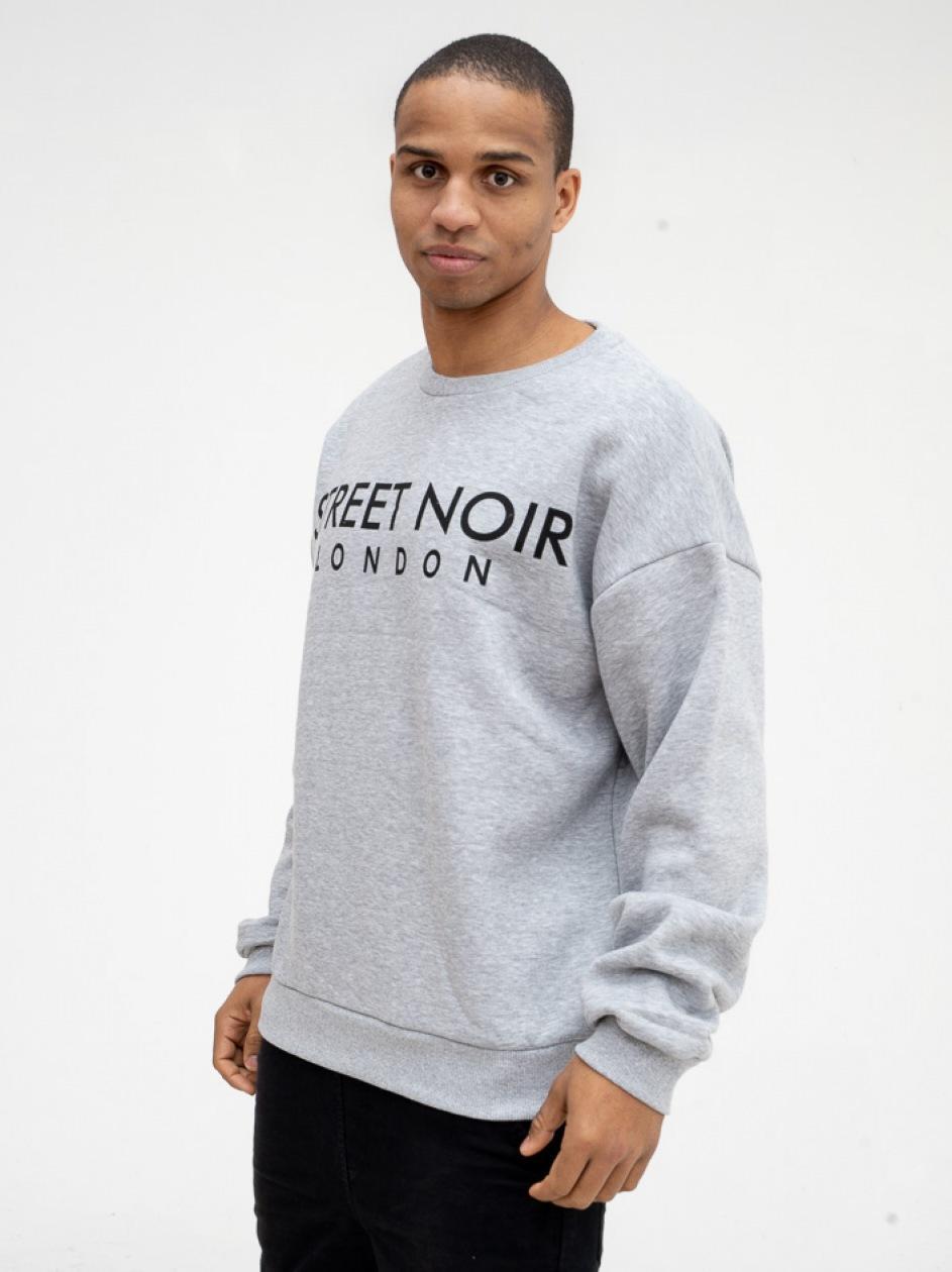 Bluza Bez Kaptura Street Noir London Szara