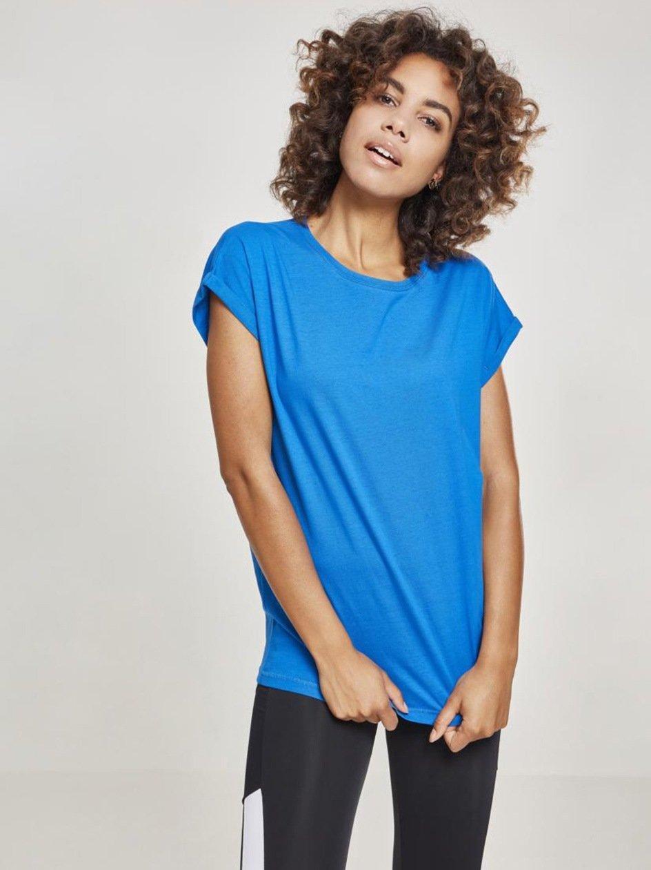 Damska Lużna Koszulka Z Krótkim Rękawem Urban Classics TB771 Niebieska