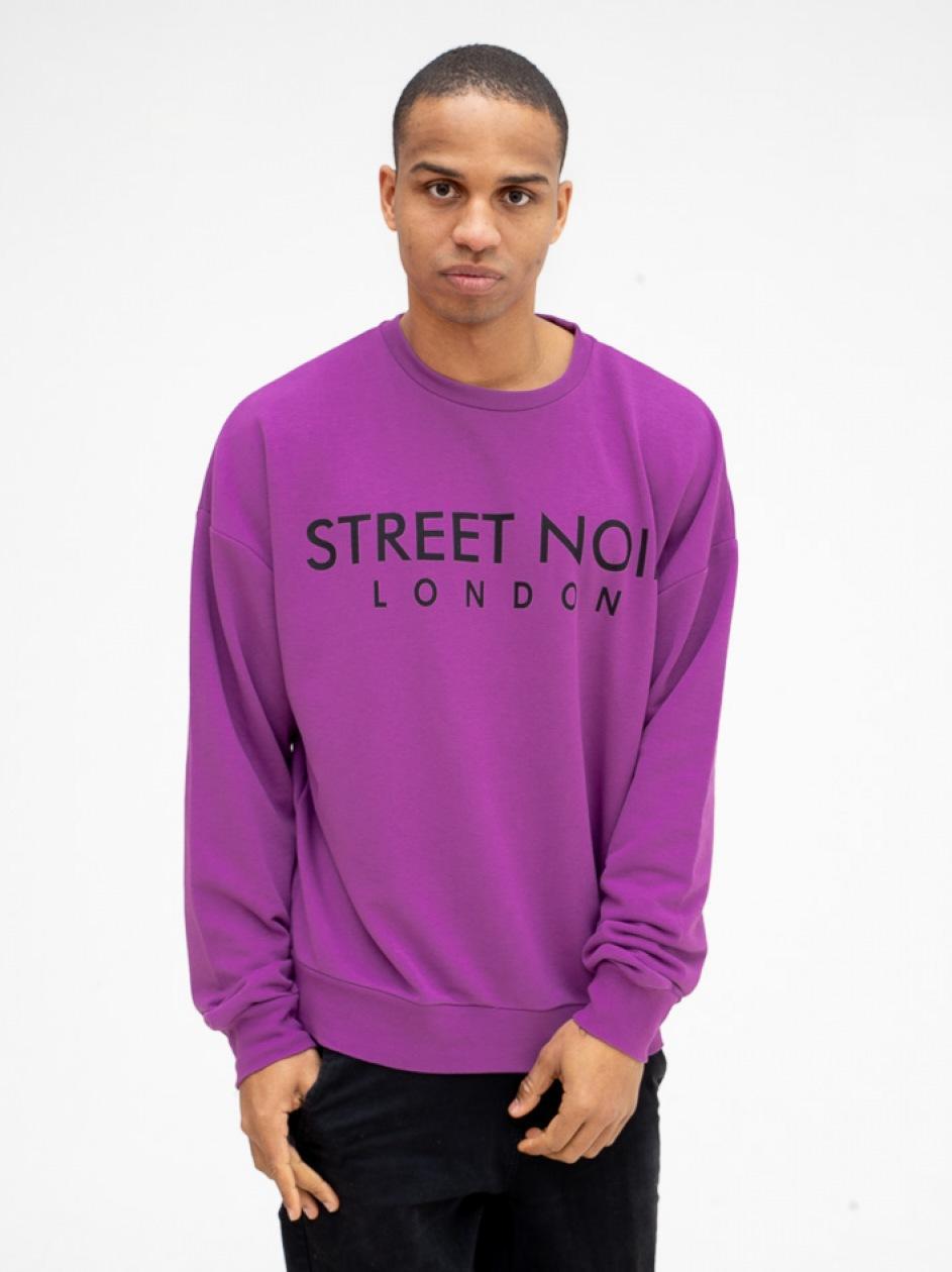 Bluza Bez Kaptura Street Noir London Jasna Fioletowa