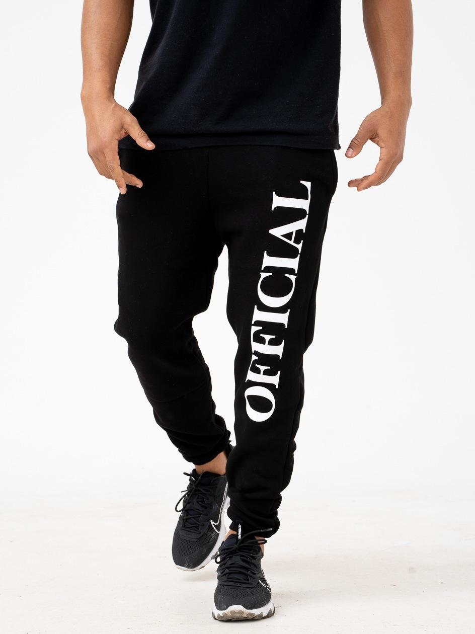 Spodnie Dresowe Boohoo Vertical Official Czarne
