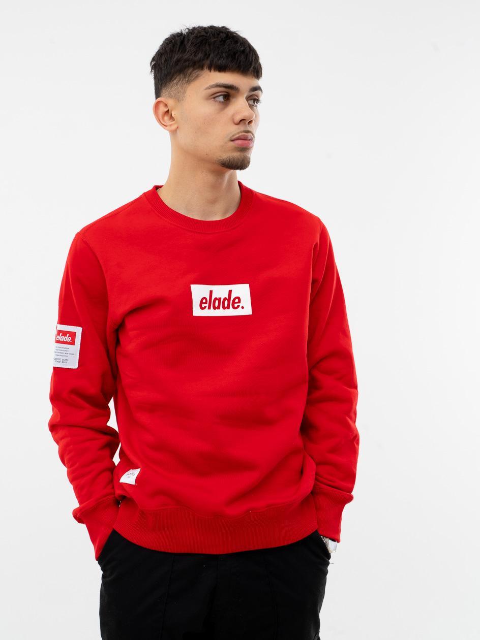 Bluza Bez Kaptura Elade Front Name Red