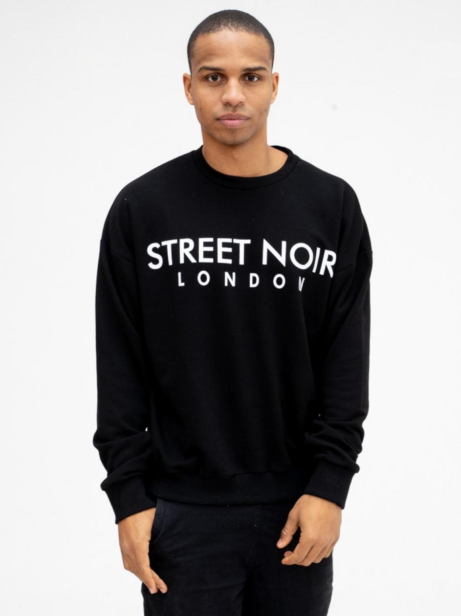 Bluza Bez Kaptura Street Noir London Black