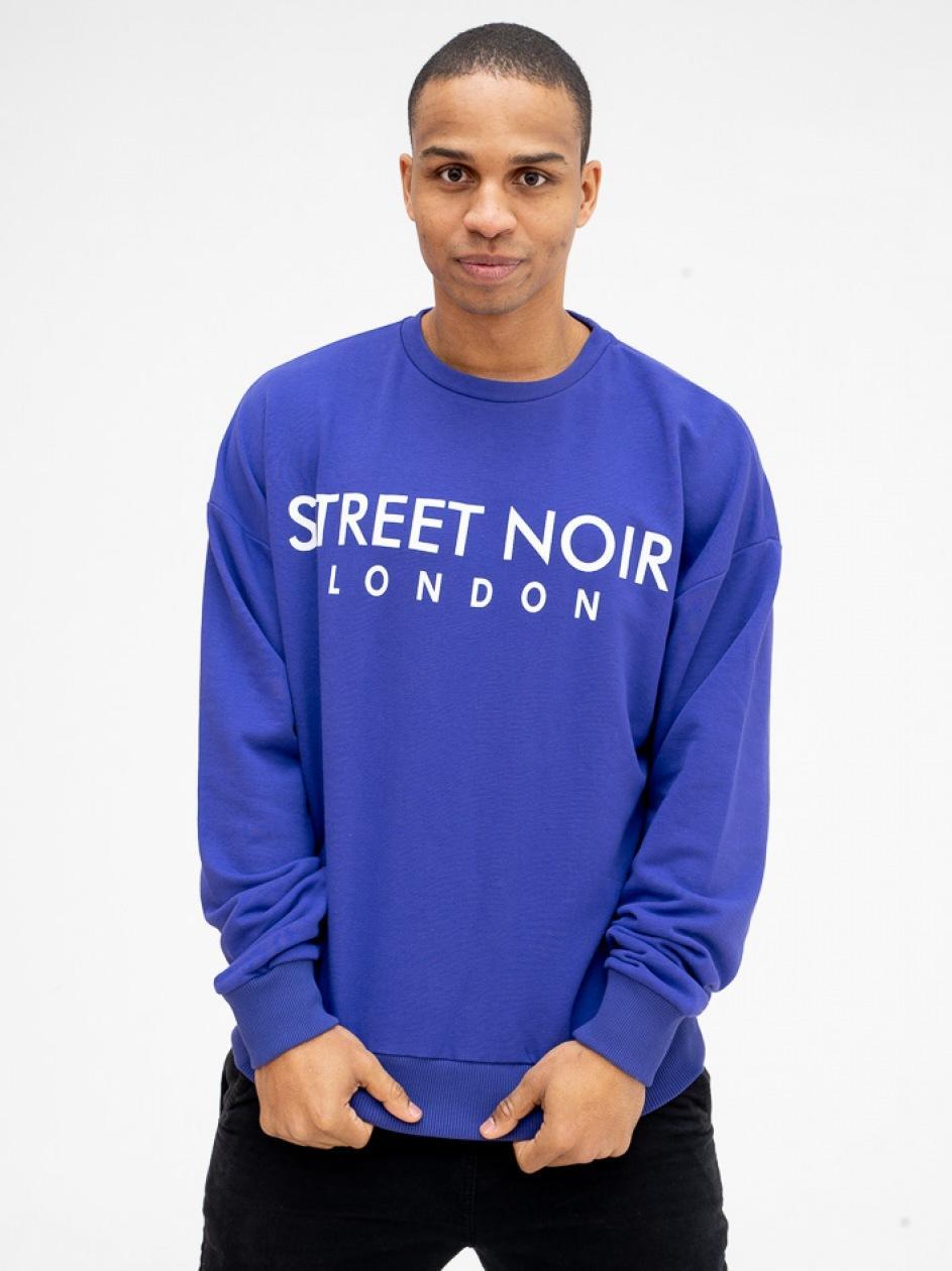 Bluza Bez Kaptura Street Noir London Fioletowa