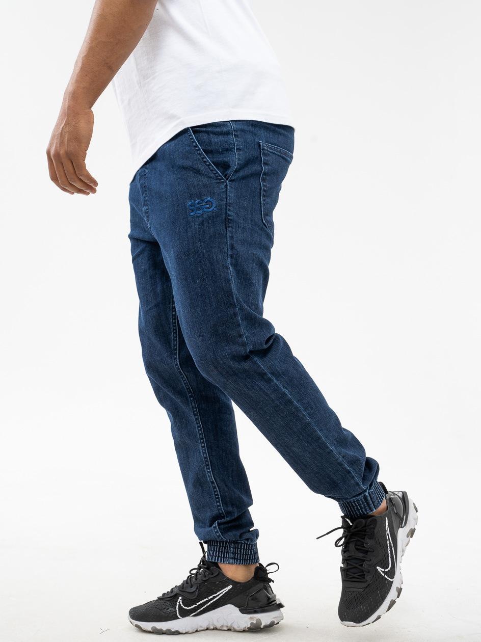 Spodnie Jeansowe Jogger Slim SSG Front SSG Niebieskie