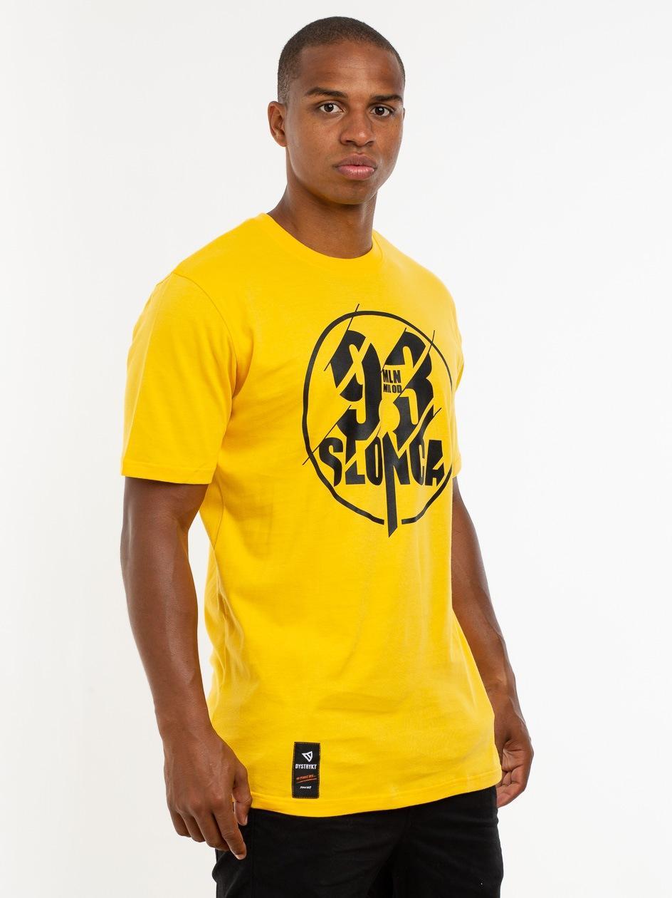Koszulka Z Krótkim Rękawem Dystrykt 93 Mln Mil Od Słońca Żółta