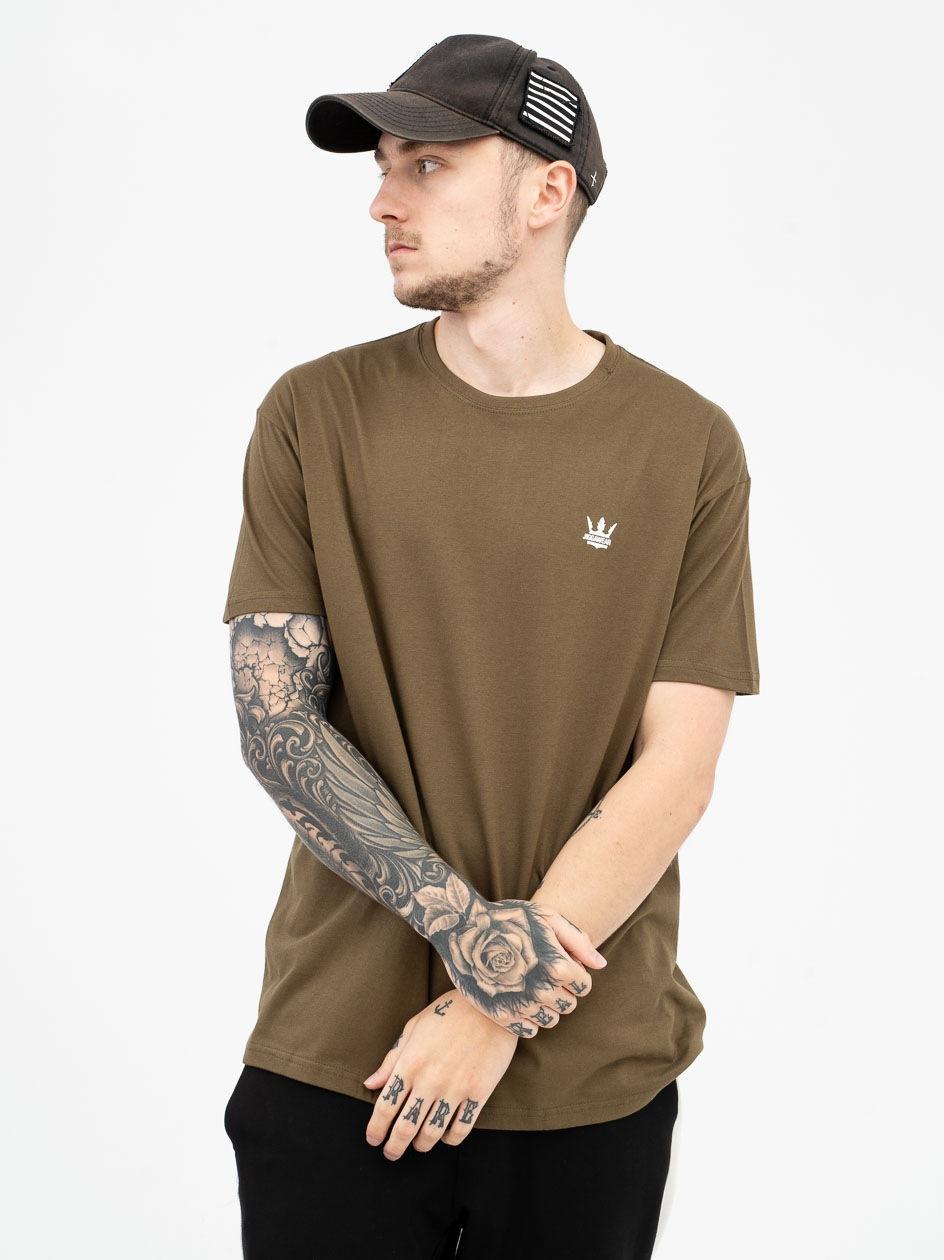 Koszulka Z Krótkim Rękawem Jigga Wear Mini Crown Khaki