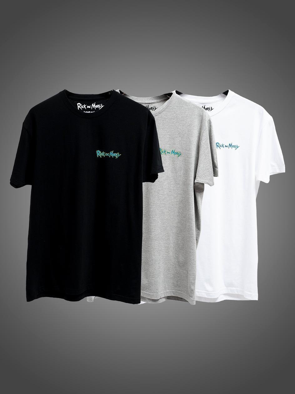 Zestaw 3 T-Shirtów Rick And Morty Mini Logo Czarna / Biała / Szara