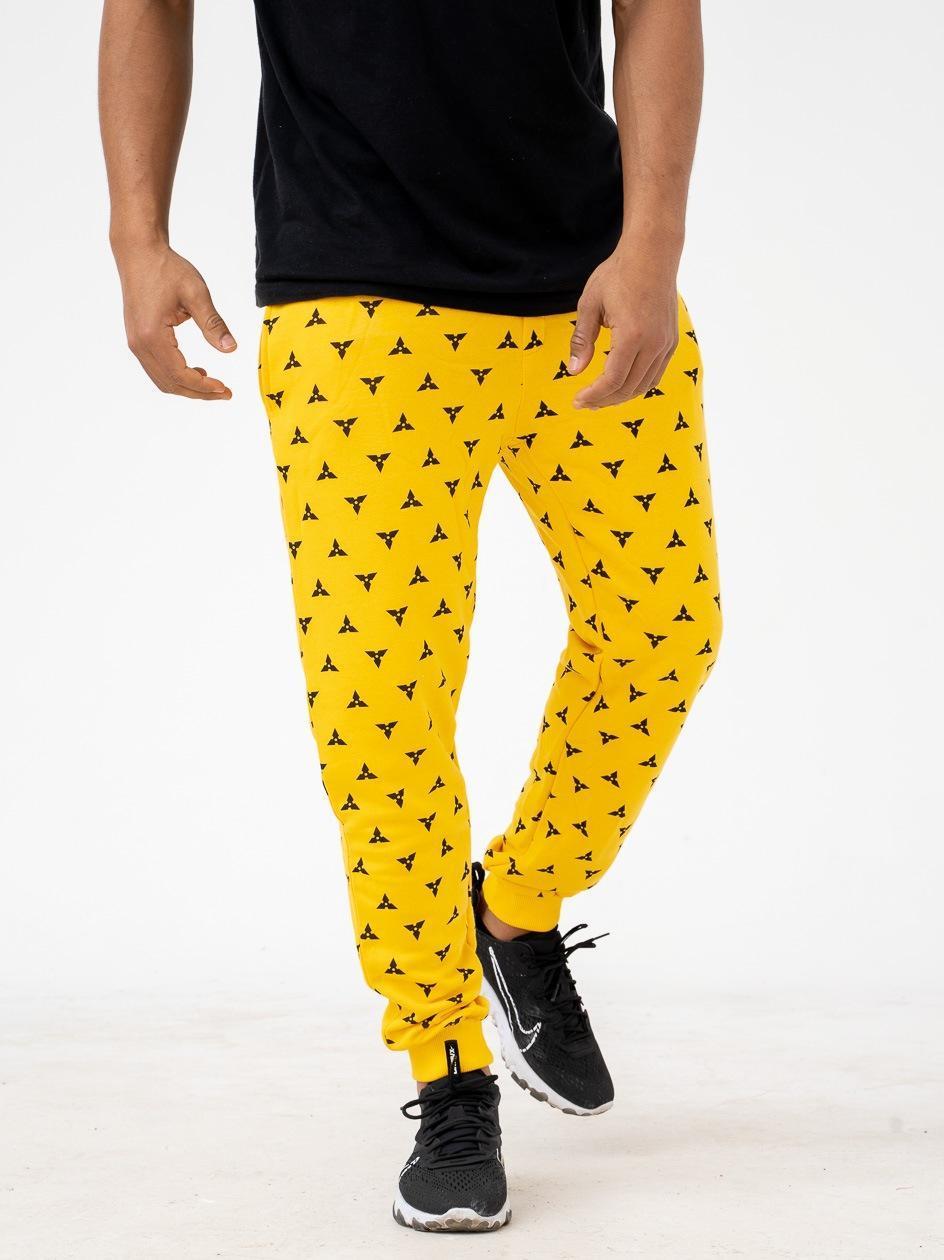 Spodnie Dresowe Breezy Ninja Żółte PRODUKT Z WADĄ