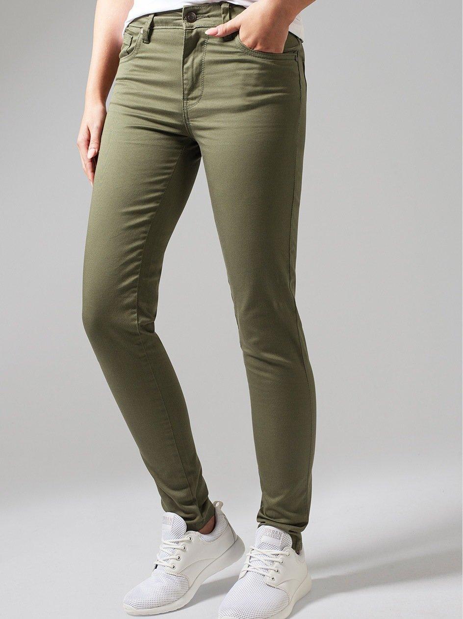 Ladies Skinny Pants Olive TB1361