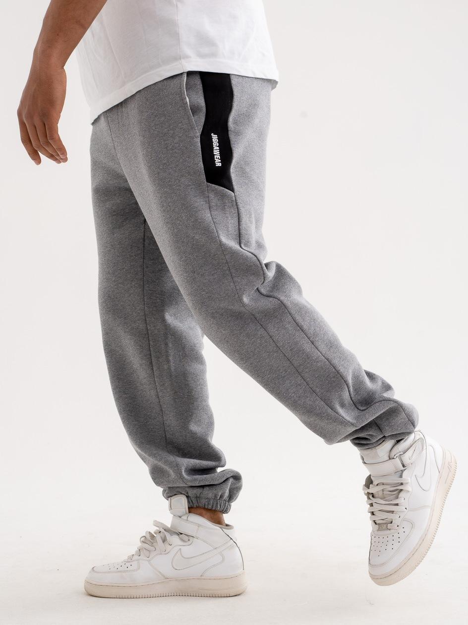 Spodnie Dresowe Jigga Wear Vertical Name Szare
