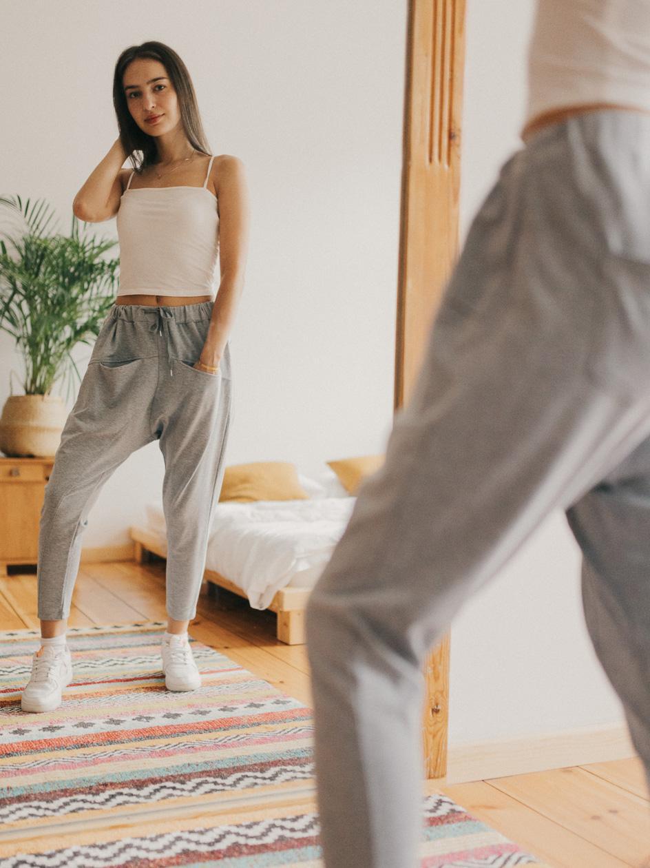 Spodnie Dresowe Point X Yoga Szare
