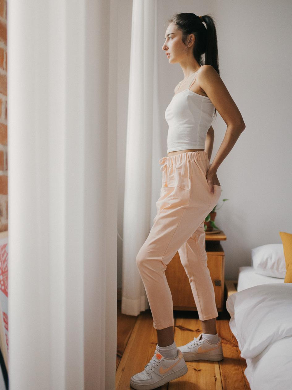 Spodnie Dresowe Point X Yoga Jasne Różowe