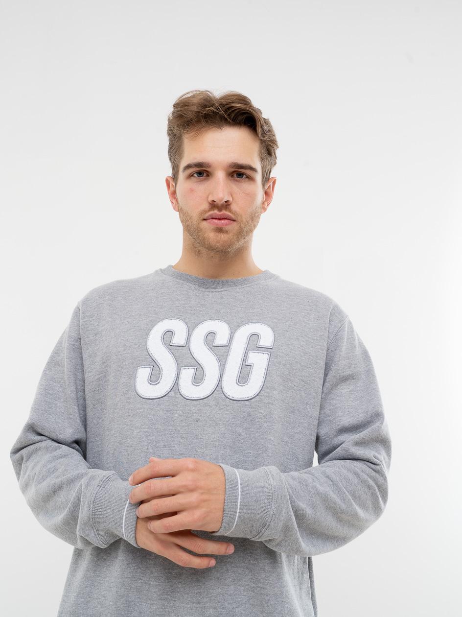 Bluza Bez Kaptura Premium SSG Chenille Szara