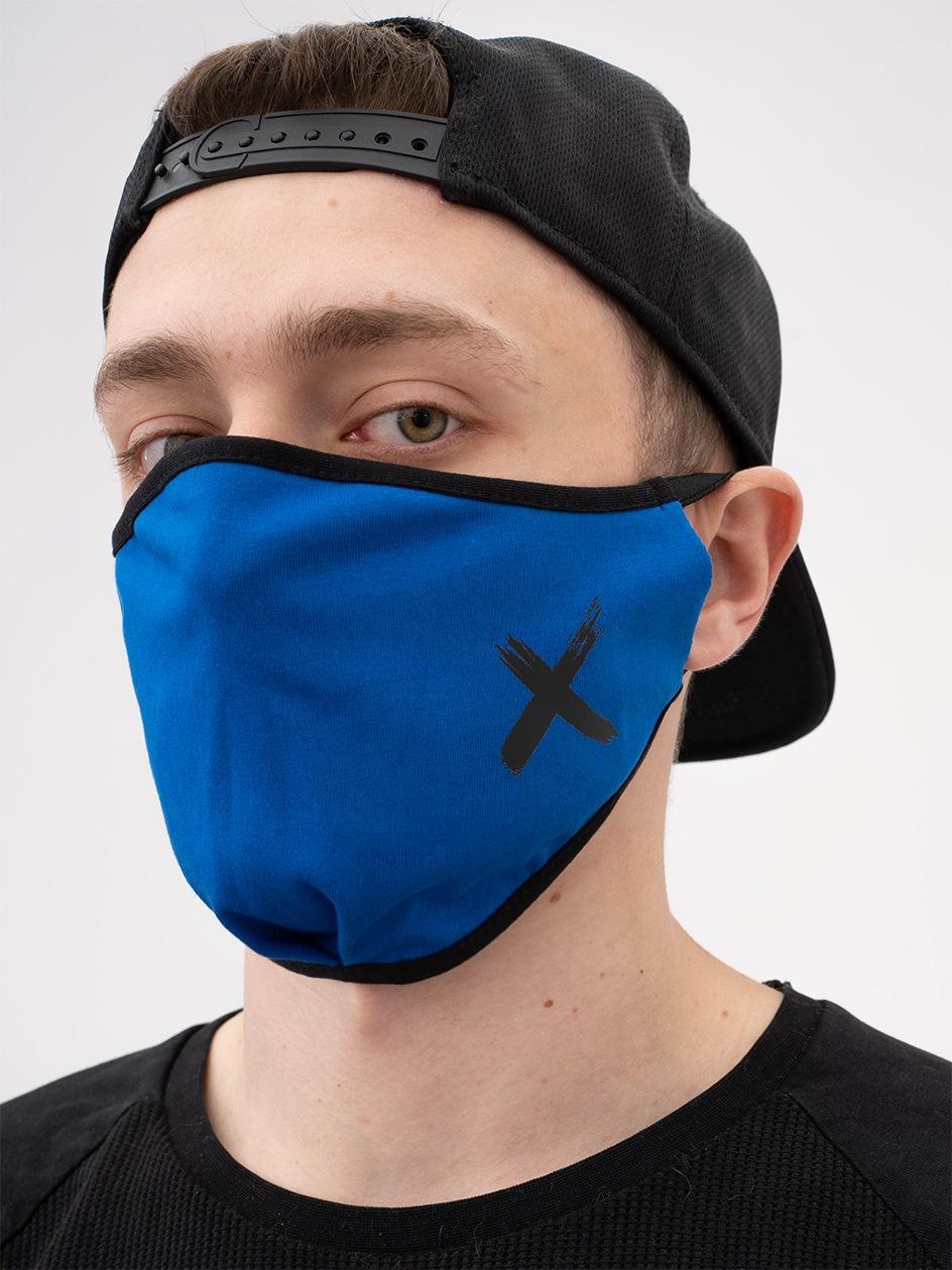 Maska Streetwearowa Point X Small X Niebieska