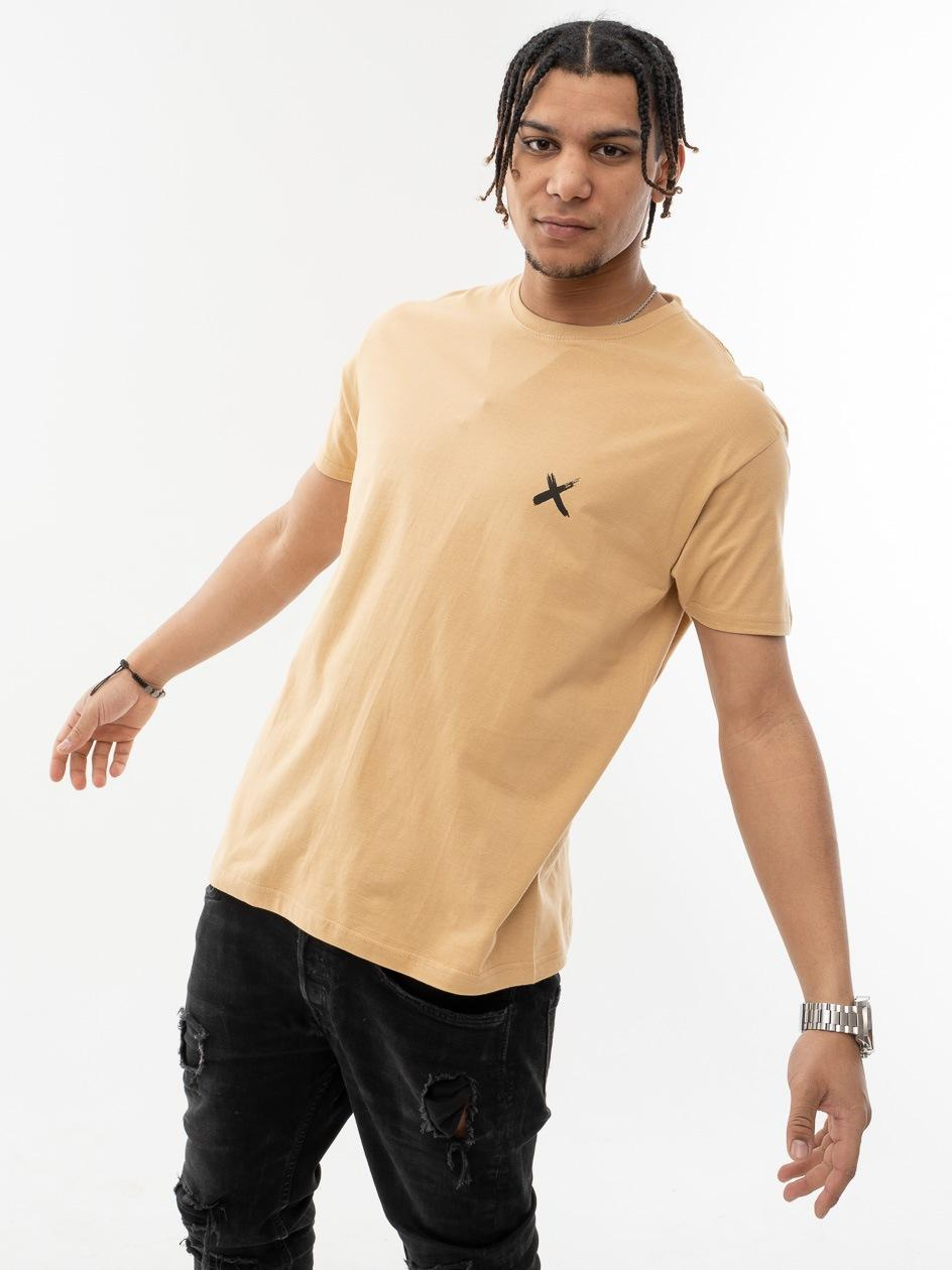 Koszulka Z Krótkim Rękawem Point X Mini X Jasna Brązowa