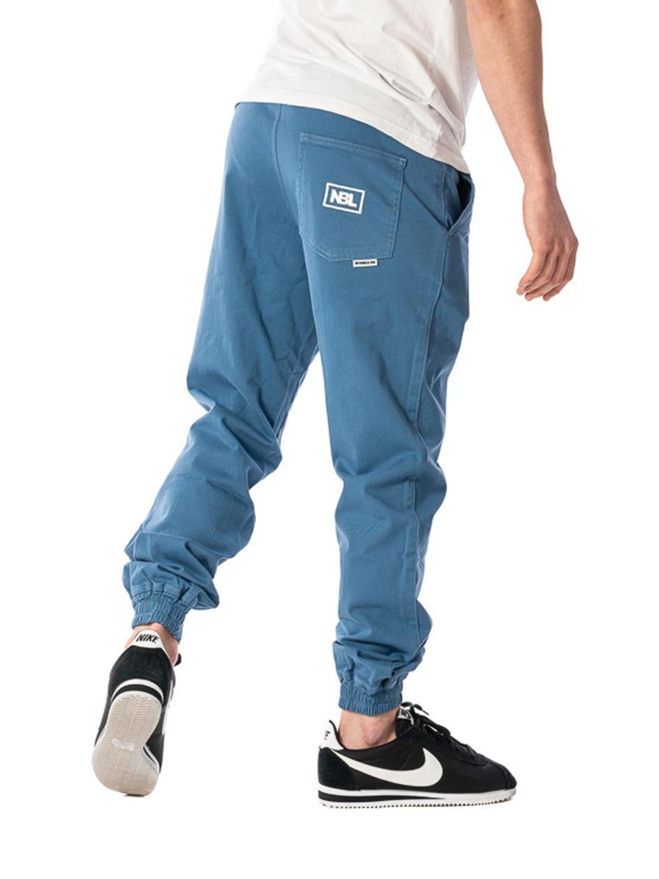 Spodnie Materiałowe Chino Jogger Ze Ściągaczem New Bad Line Icon Niebieskie