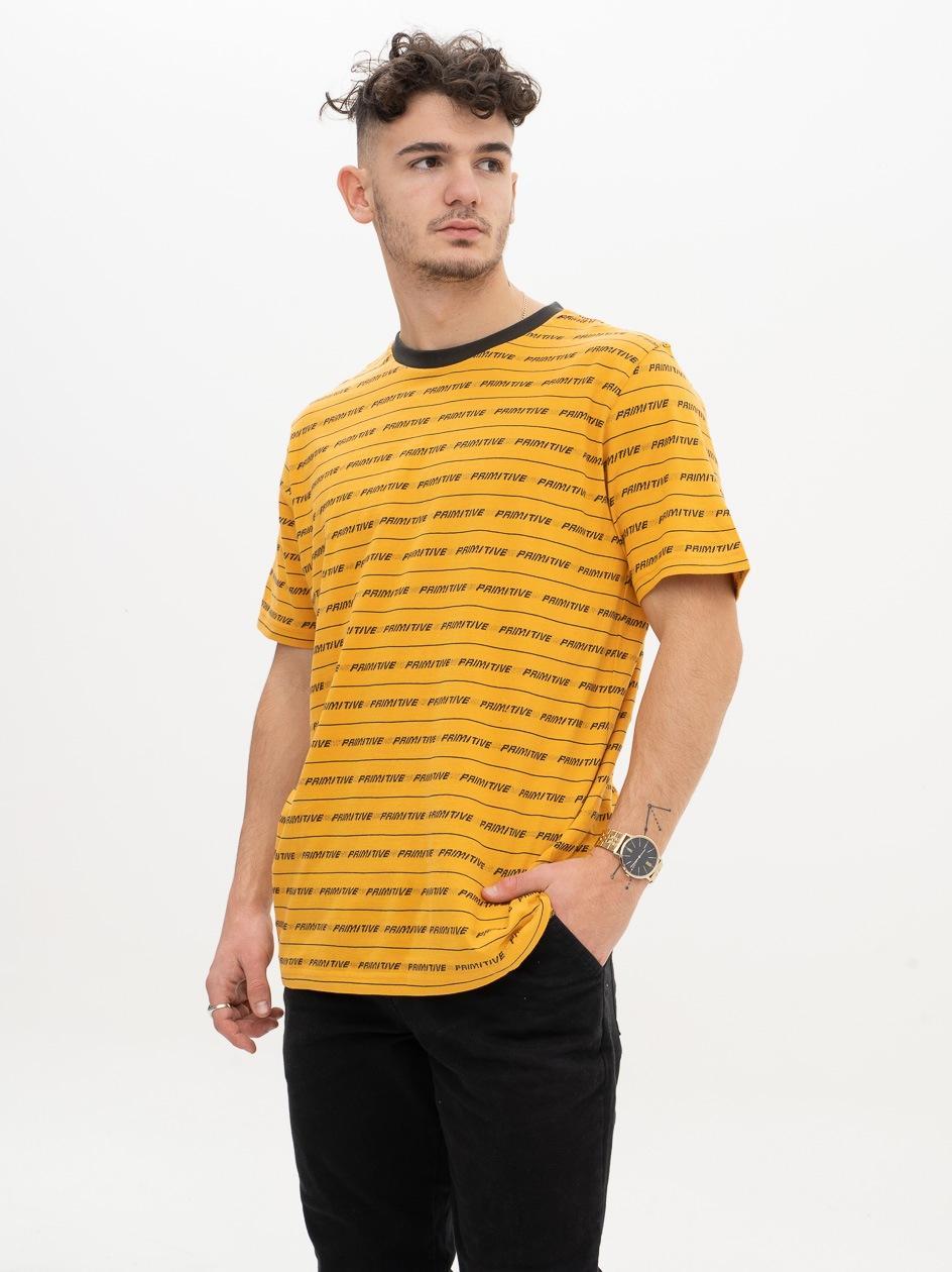 Koszulka Z Krótkim Rękawem Primitive Boyle Ciemna Żółta