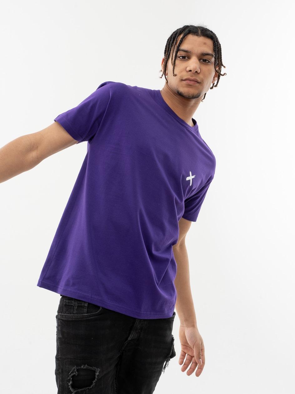 Koszulka Z Krótkim Rękawem Point X Mini X Fioletowa