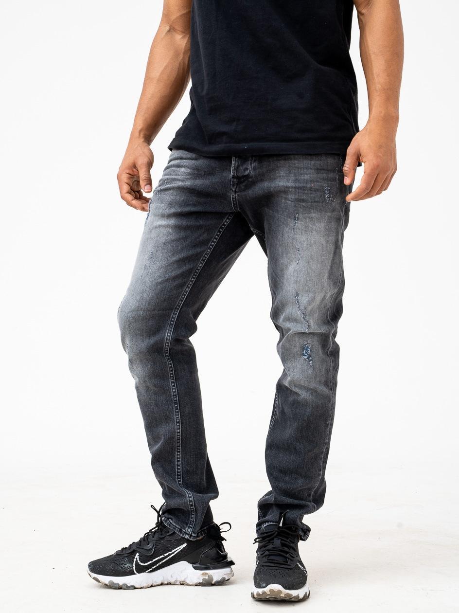 Spodnie Jeansowe Z Uszkodzeniami Breezy Destroy Czarne