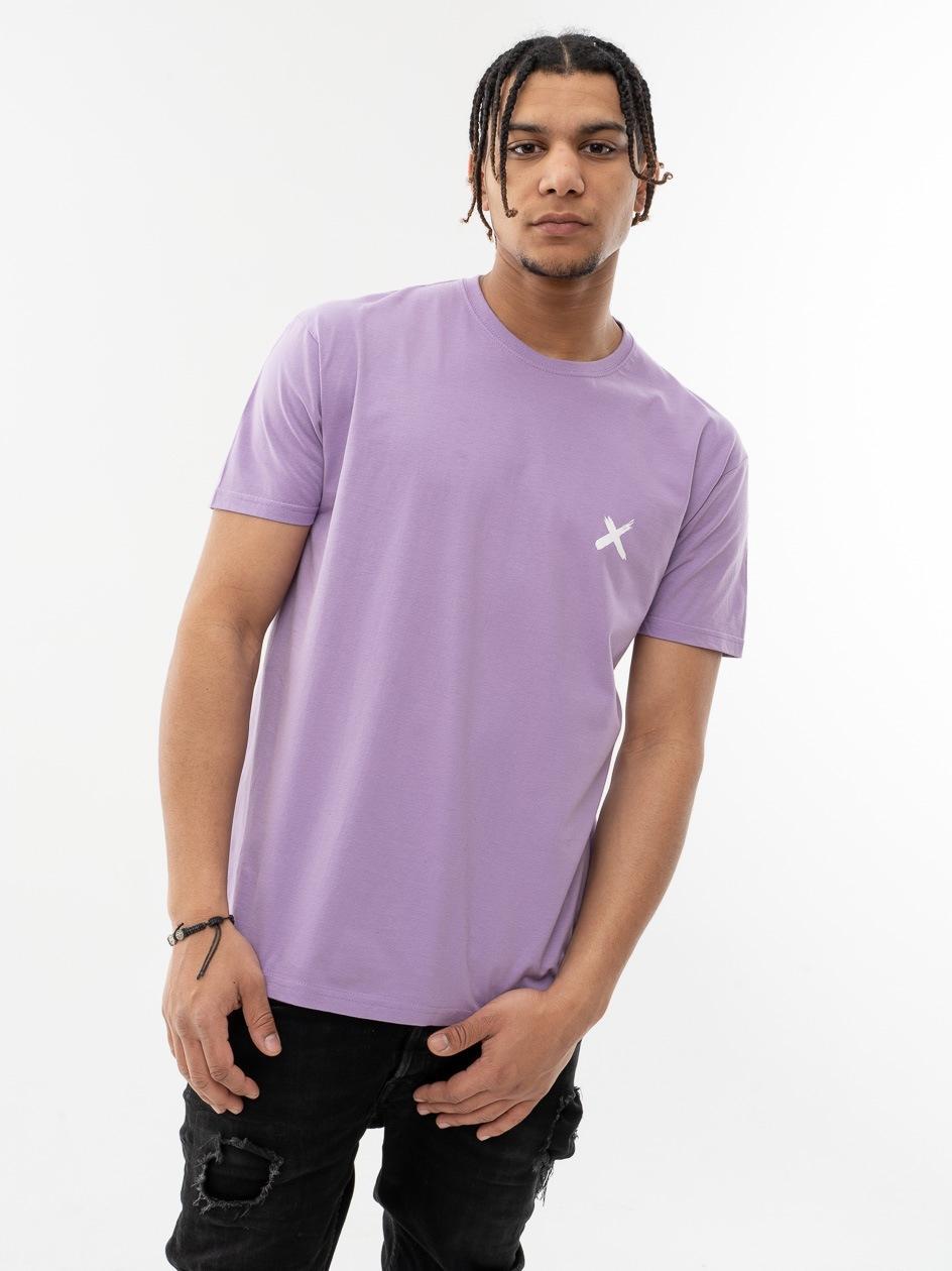 Koszulka Z Krótkim Rękawem Point X Mini X Jasna Fioletowa
