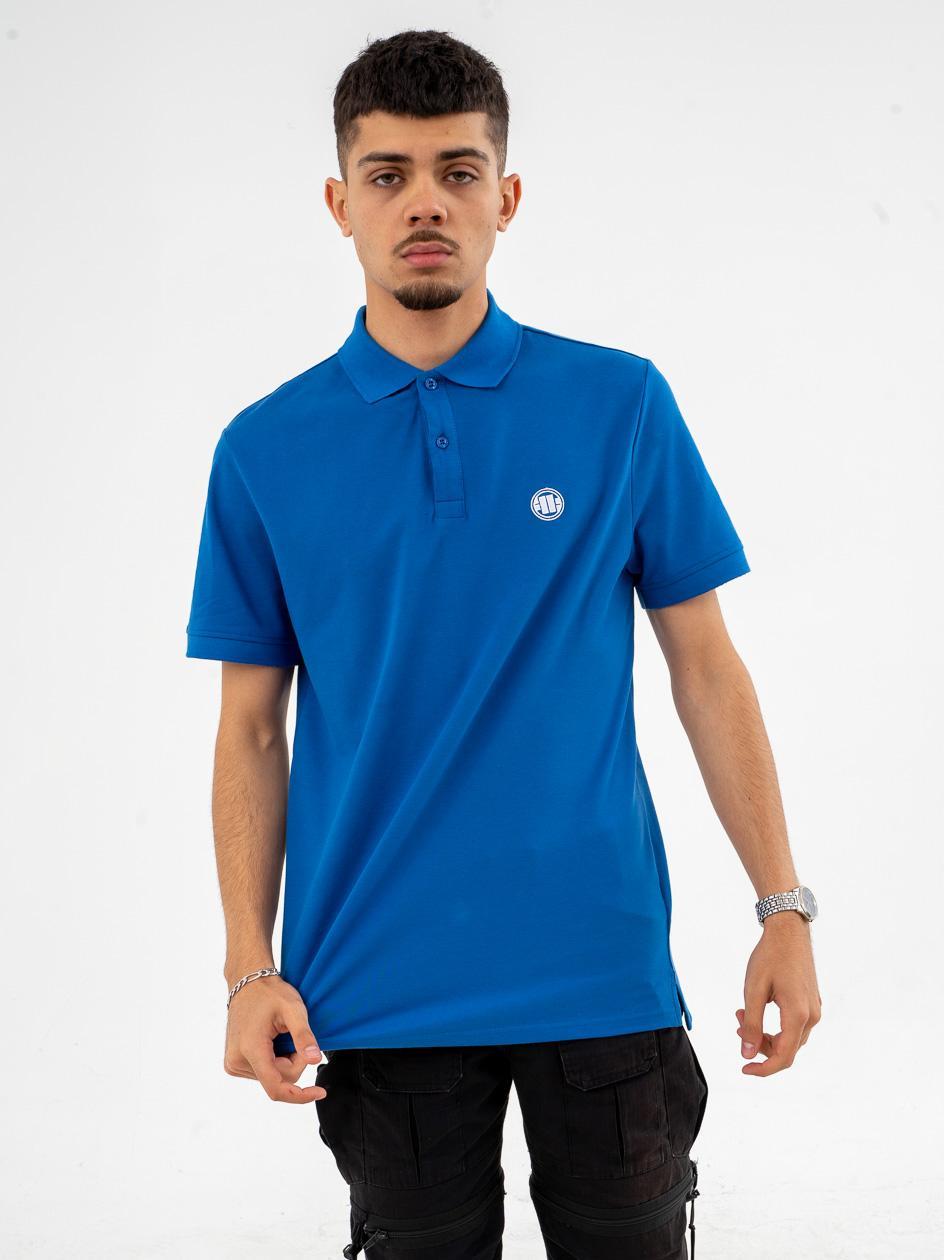 Koszulka Polo Z Krótkim Rękawem Pitbull West Coast Regular Niebieska