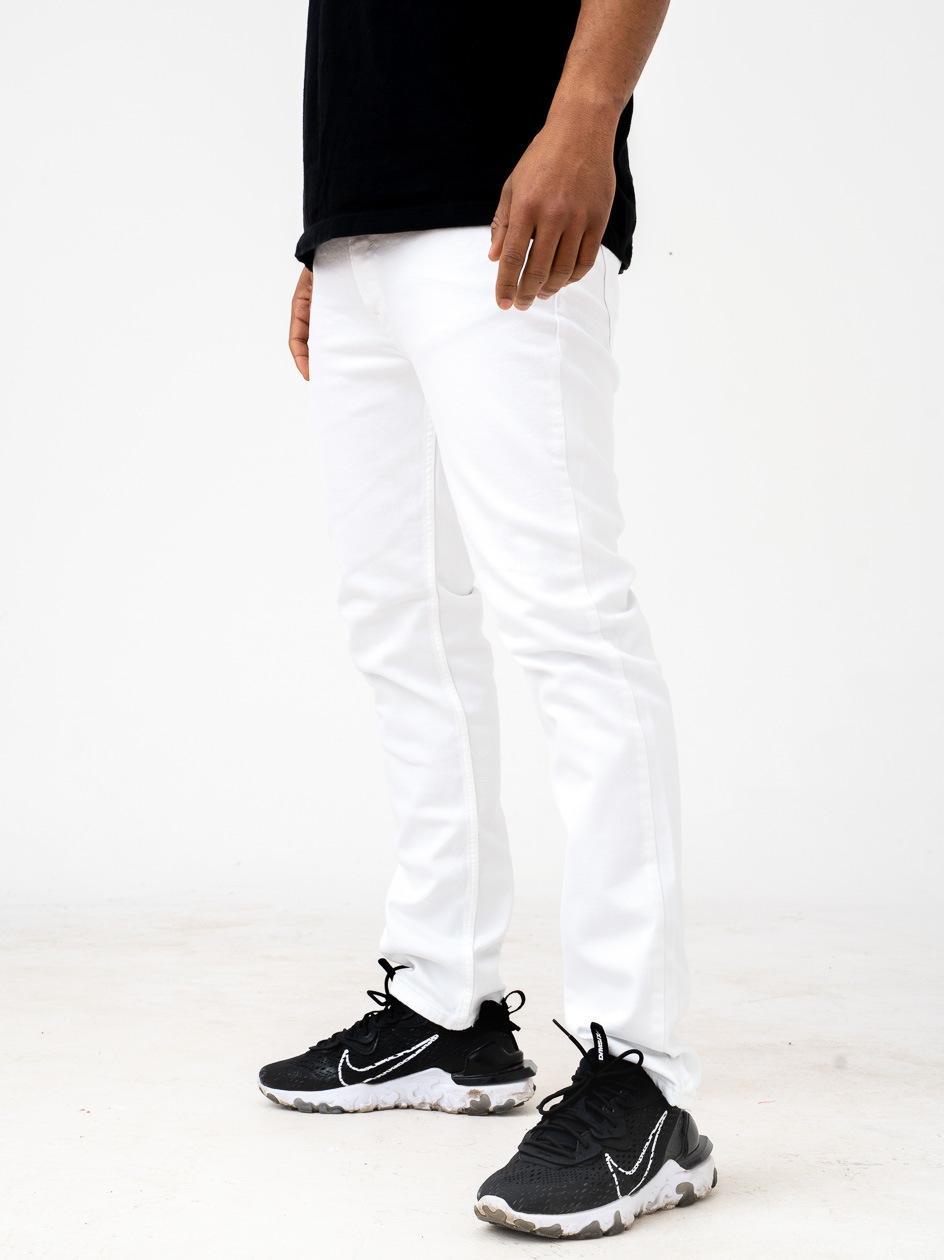 Spodnie Jeansowe Slim Breezy Core Białe