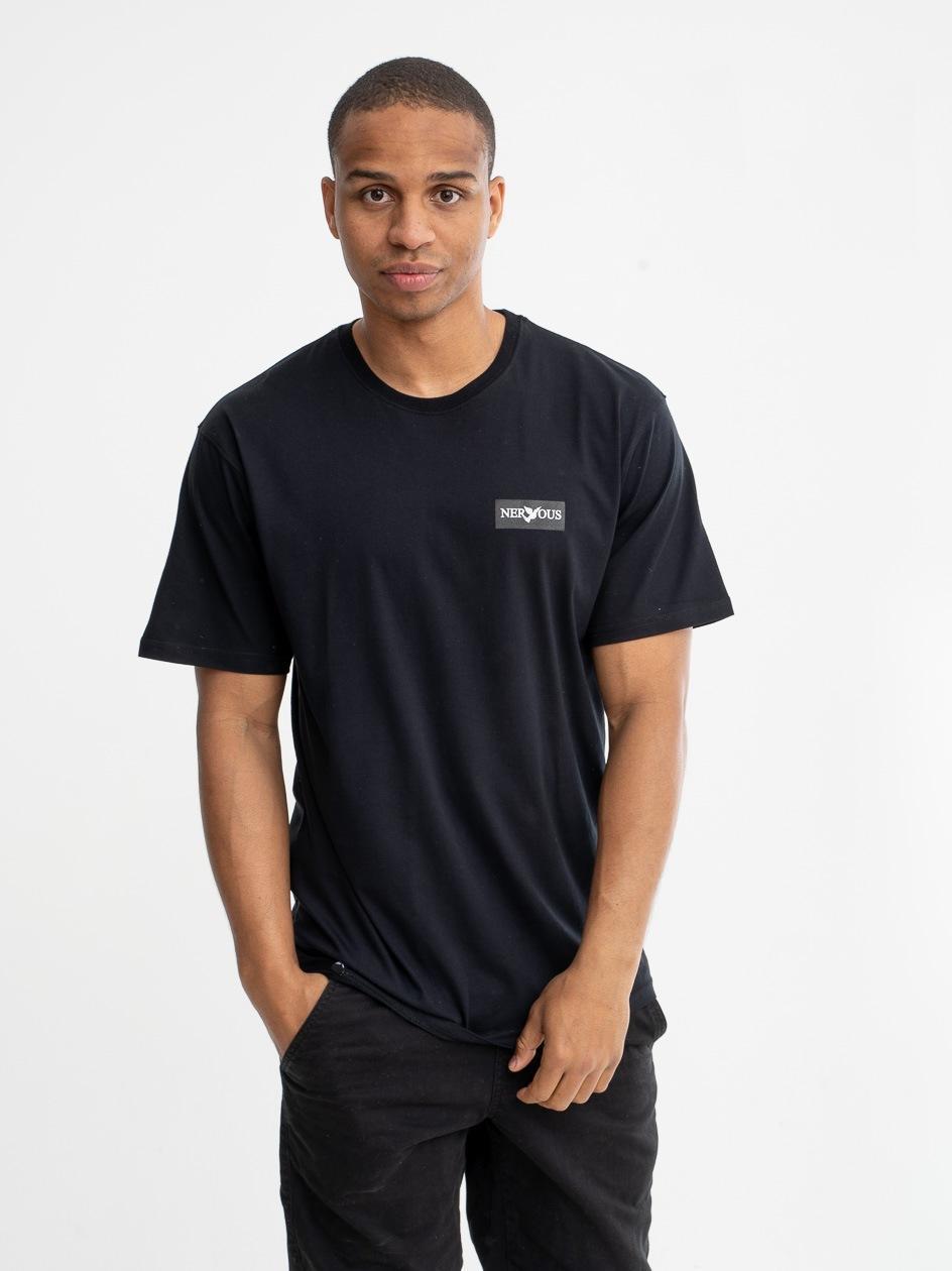 Koszulka Z Krótkim Rękawem Nervous Classic Small Czarna