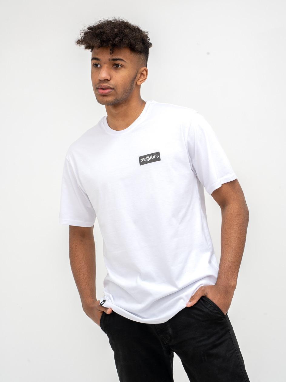 Koszulka Z Krótkim Rękawem Nervous Classic Small Biała