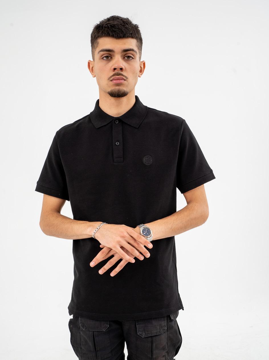 Koszulka Polo Z Krótkim Rękawem Pitbull West Coast Regular Czarna