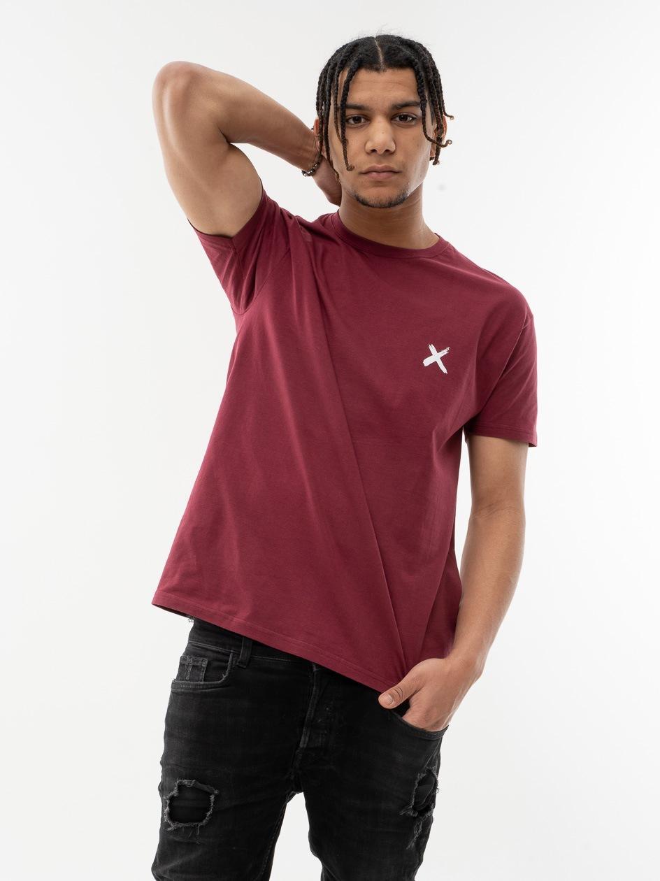 Koszulka Z Krótkim Rękawem Point X Mini X Bordowa