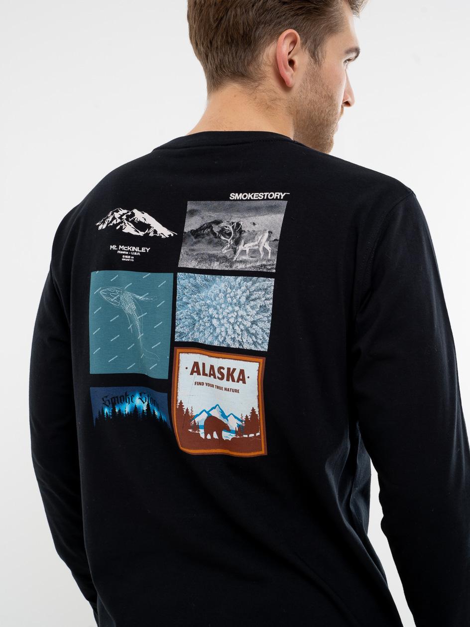 Koszulka Z Długim Rękawem SSG Alaska Czarna