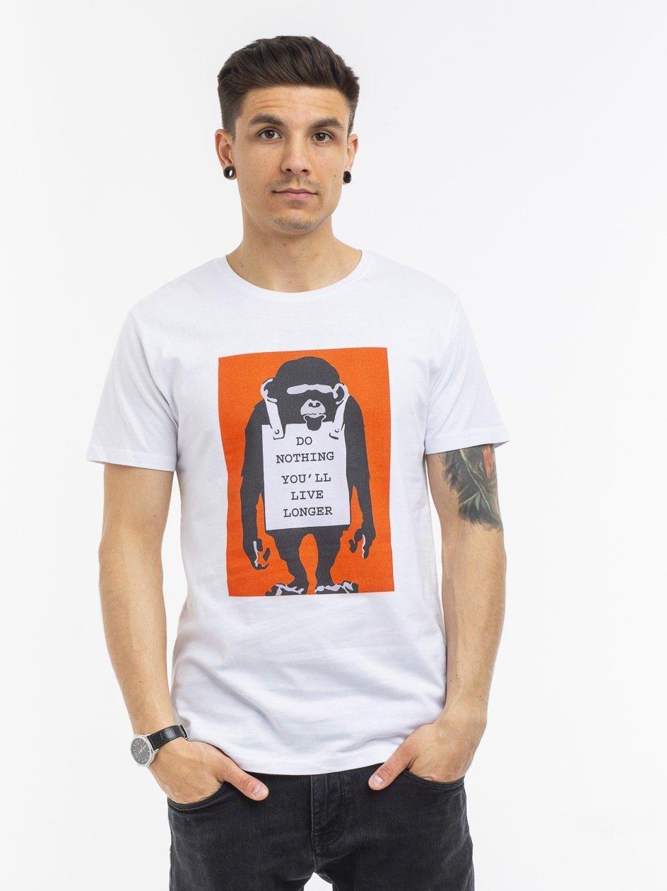 MC368 Banksy Do Nothing Tee White