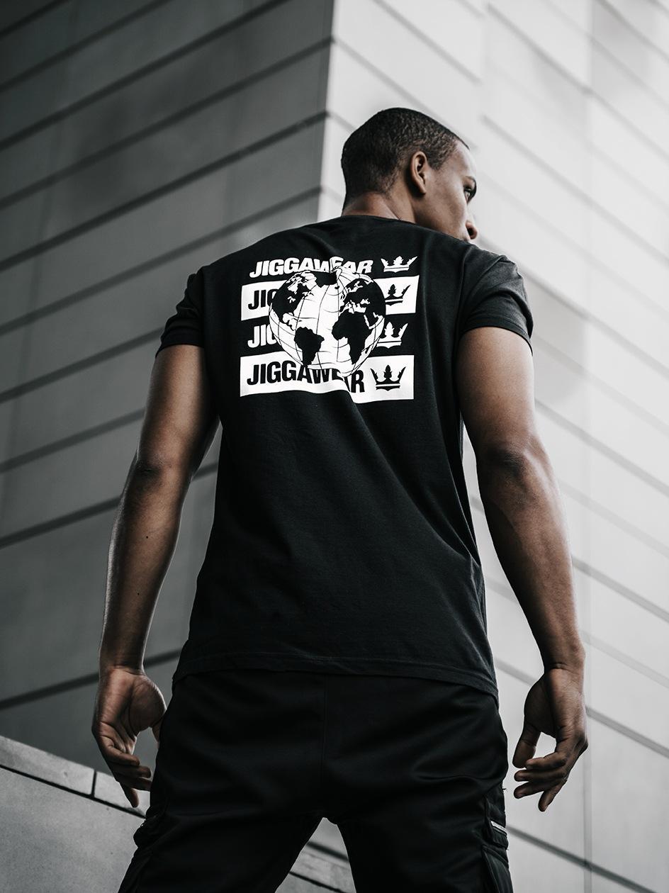 Koszulka Z Krótkim Rękawem Jigga Wear Worldwide Czarna