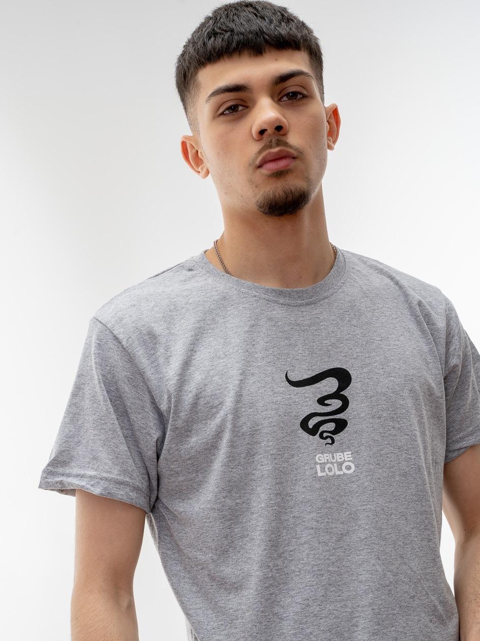 Koszulka Z Krótkim Rękawem Grube Lolo Centre Mini Logo Szara