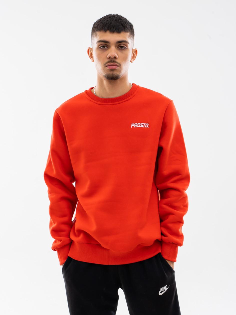 Bluza Bez Kaptura Prosto Basick Czerwona