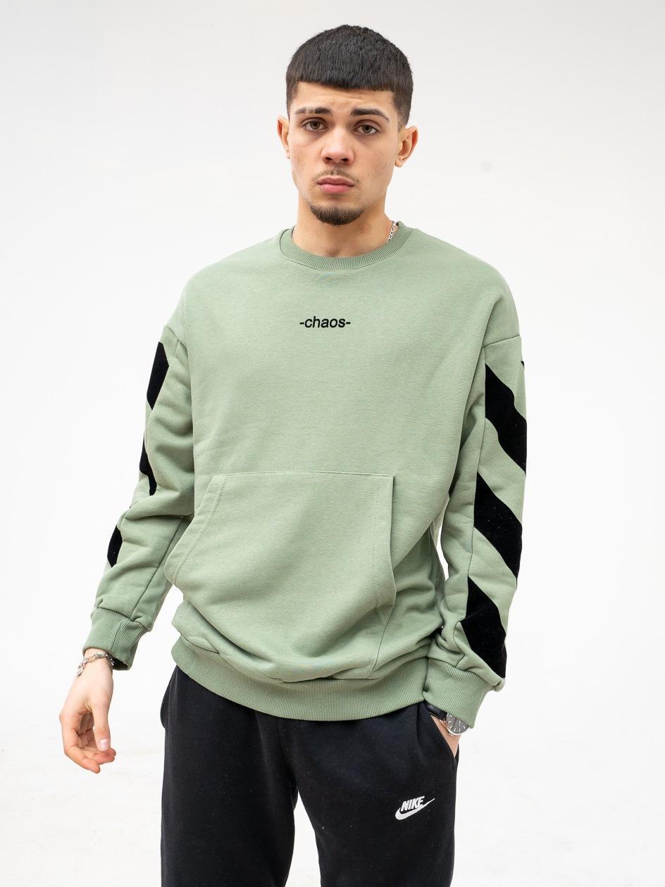Bluza Bez Kaptura Breezy Stripes Chaos Zielona