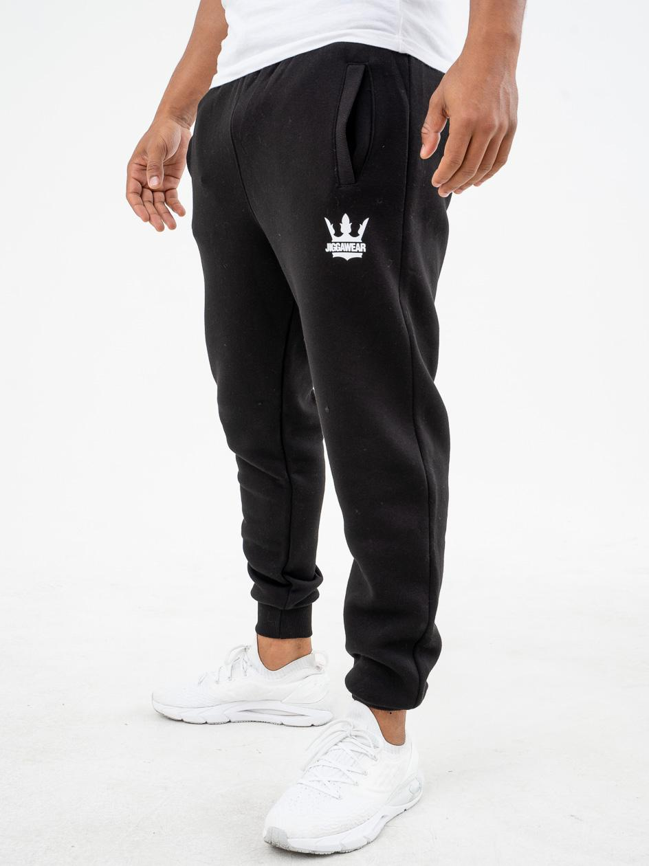 Spodnie Dresowe Jigga Wear Big Crown Czarne