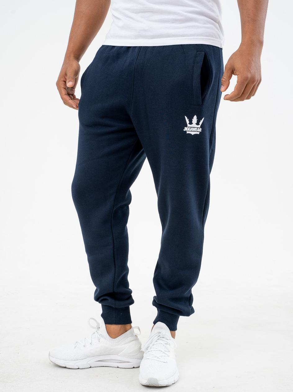 Spodnie Dresowe Jigga Wear Big Crown Granatowe
