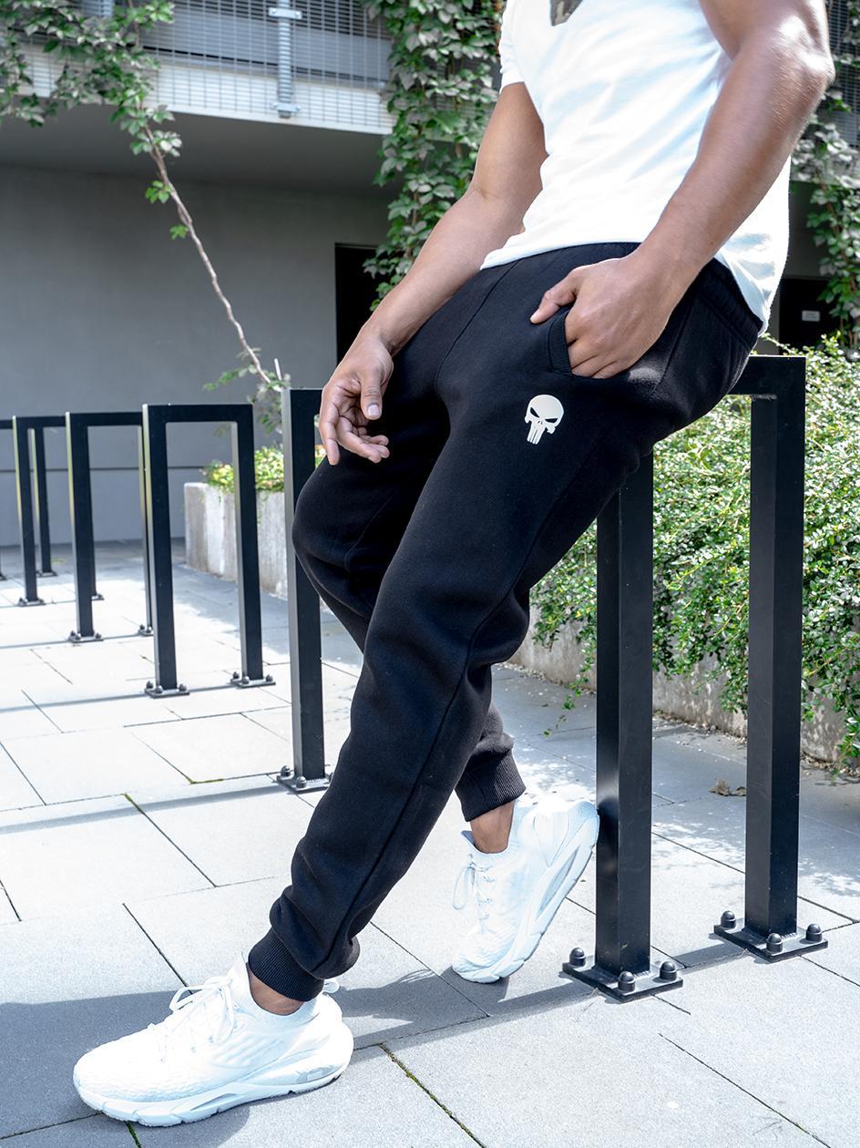Spodnie Dresowe Marvel Comics Punisher Logo Czarne