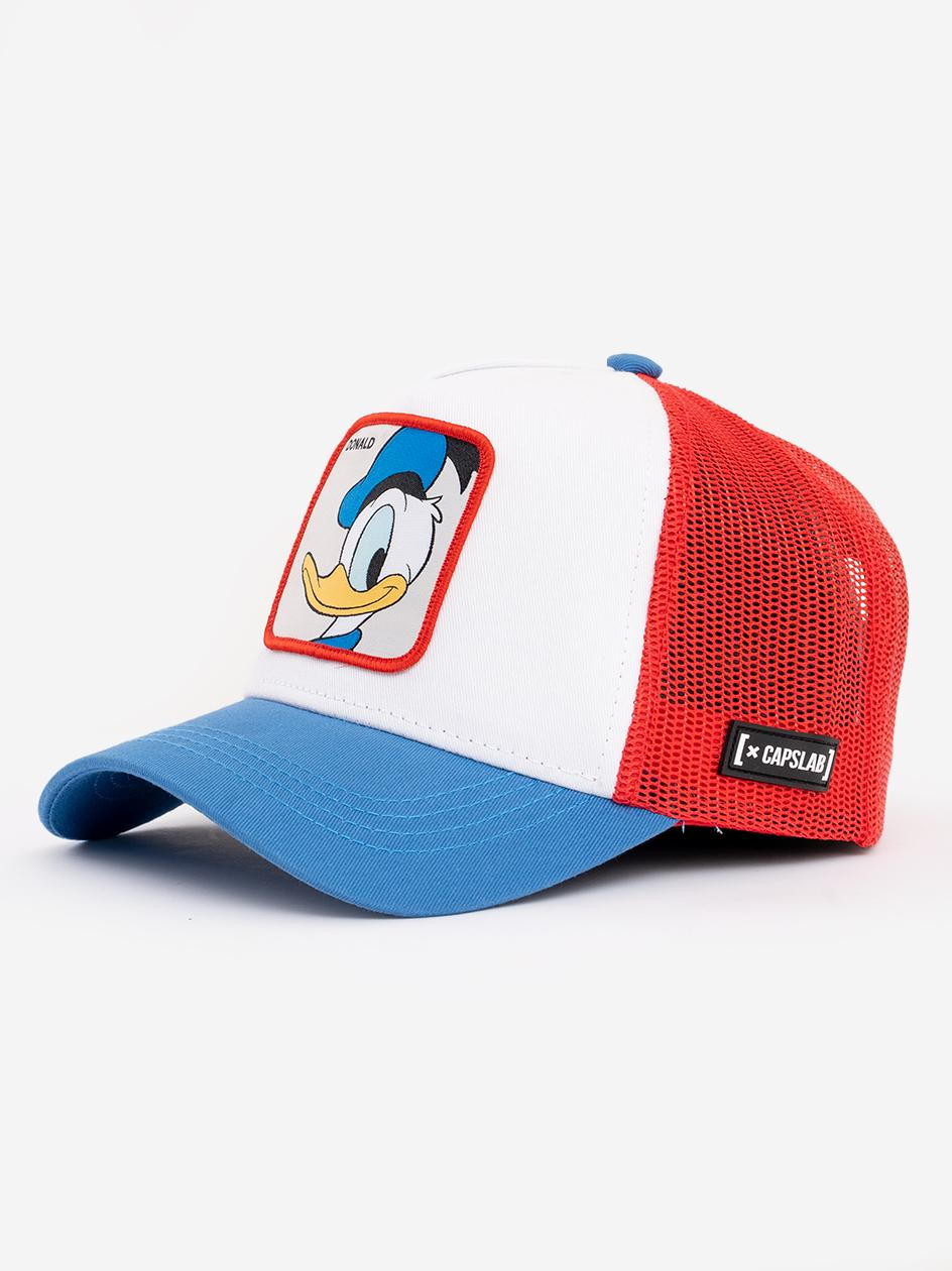 Czapka Z Daszkiem Capslab Looney Tunes Donald Duck Biała Czerwona Niebieska