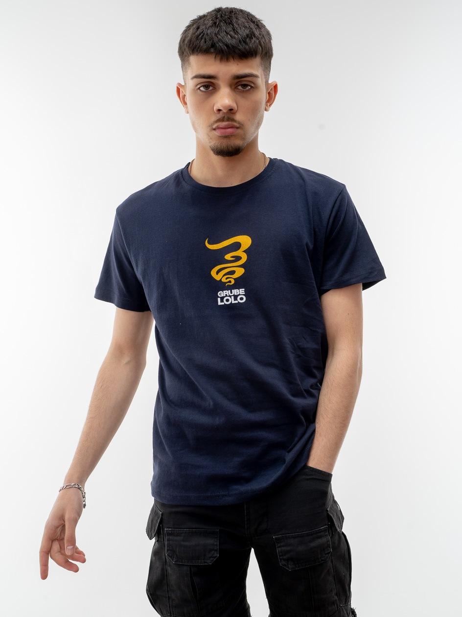 Koszulka Z Krótkim Rękawem Grube Lolo Centre Mini Logo Granatowa