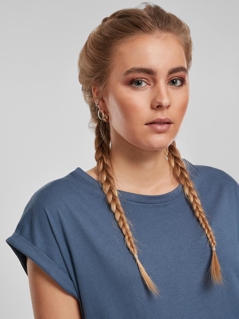 Damski Luźny T-Shirt Urban Classics TB771 Ciemny Niebieski