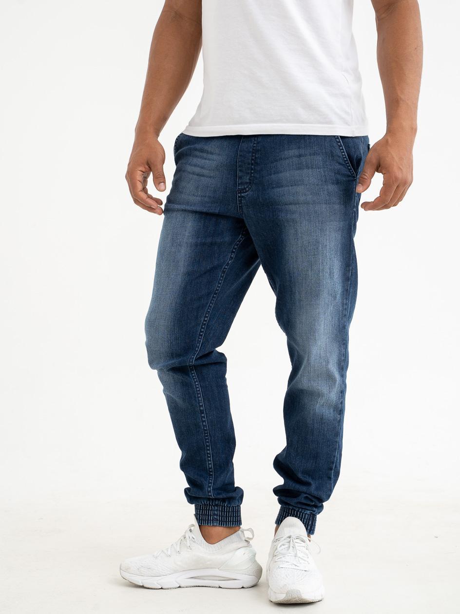 Spodnie Jeansowe Jogger Slim SSG Skin Sprane Niebieskie