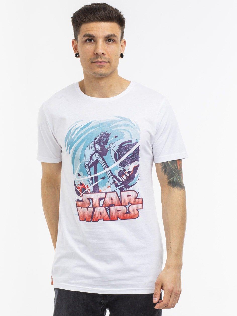MC428 Star Wars Hot Swirl Tee White