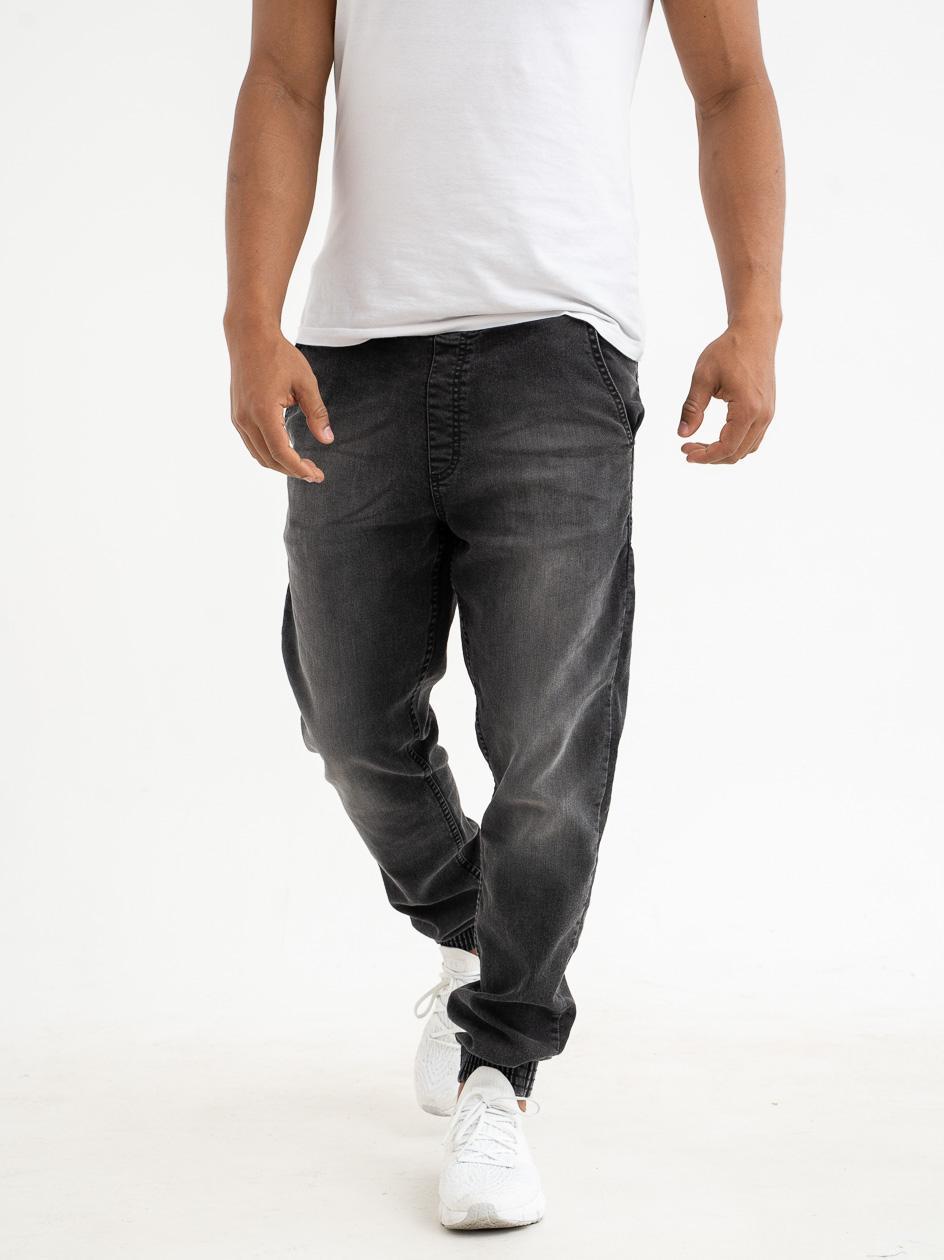 Spodnie Jeansowe Jogger Slim SSG Skin Wycierane Czarne