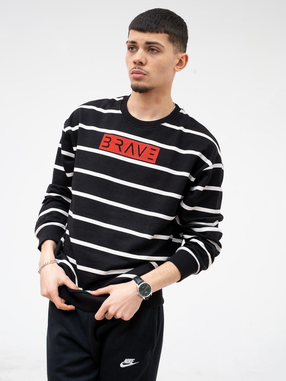 Bluza Bez Kaptura Breezy Brave Stripe Czarna