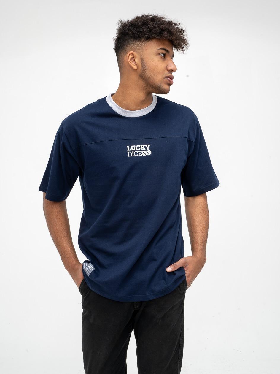 Koszulka Z Krótkim Rękawem Lucky Dice Cut Logo Granatowa