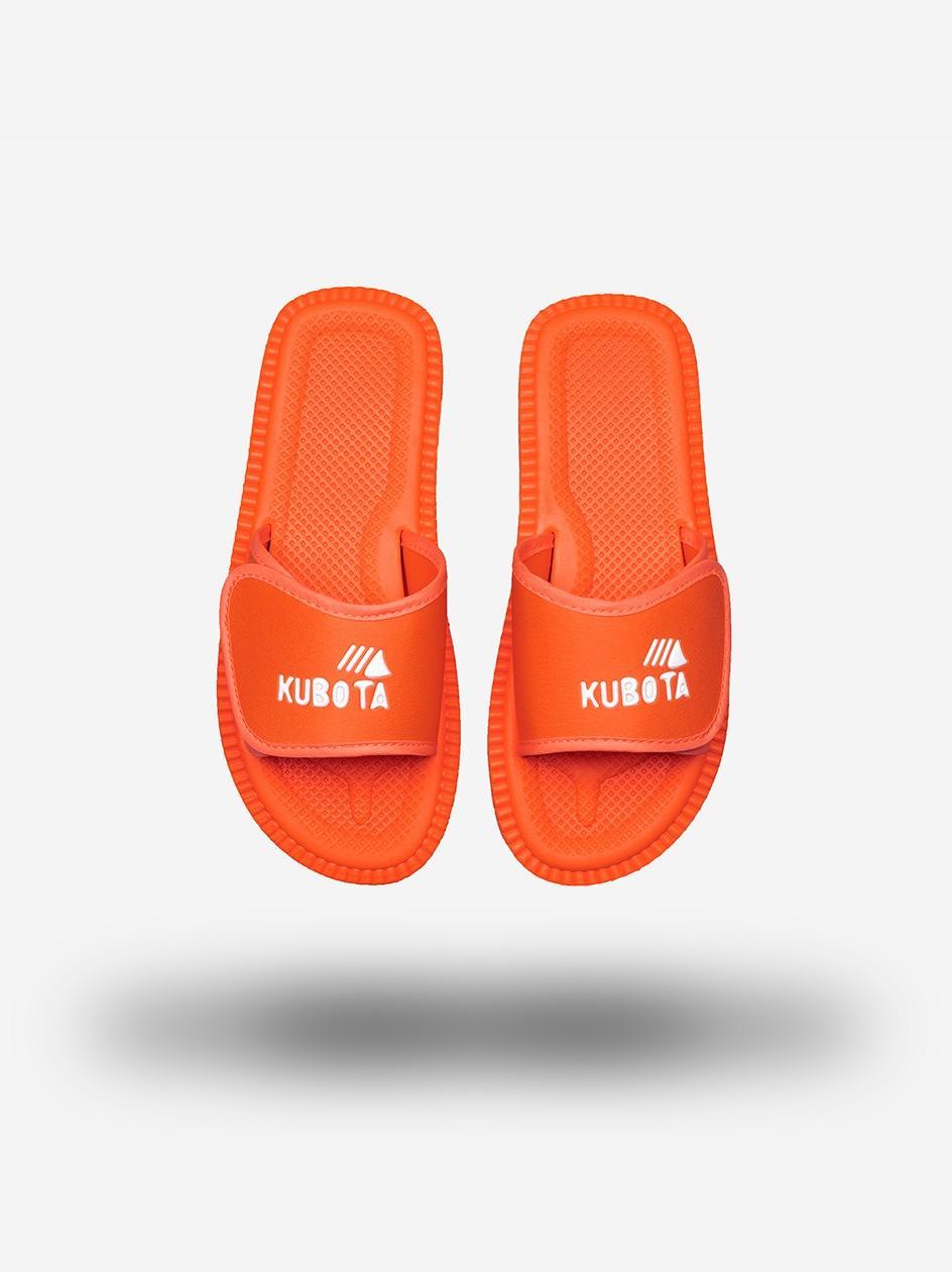 Klapki Kubota Na Rzep Logo Pomarańczowe