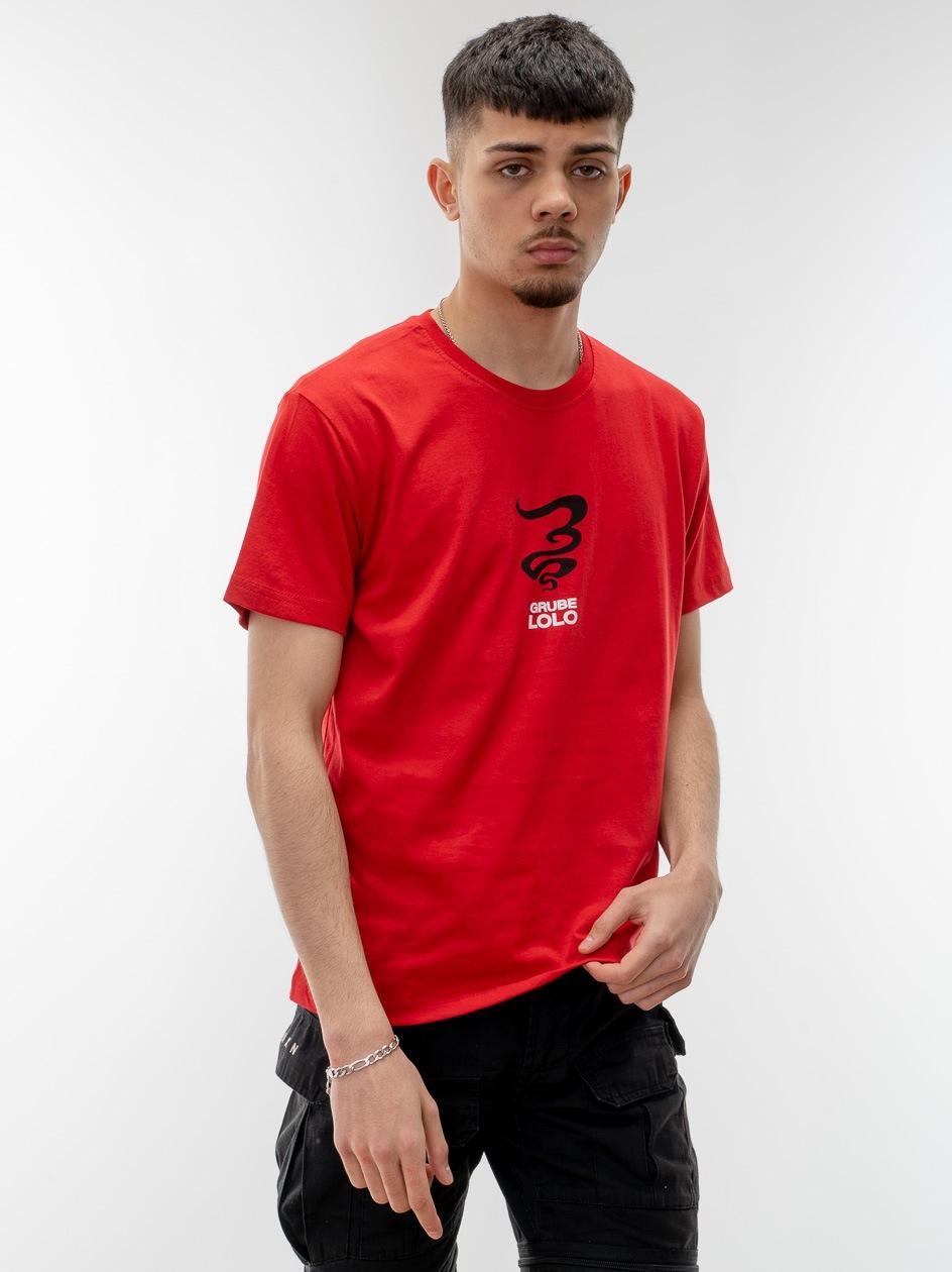 Koszulka Z Krótkim Rękawem Grube Lolo Centre Mini Logo Czerwona