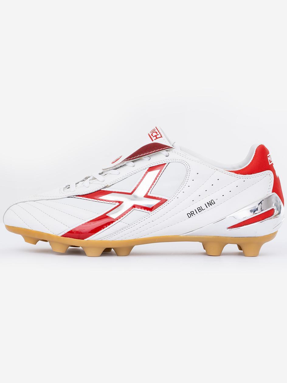 Buty Piłkarskie Lanki Munich Dribling Białe / Czerwone